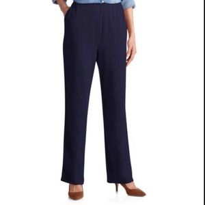 Lauren Ralph Lauren Navy Knit Pull On Trouser 1X